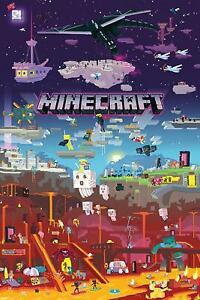 Minecraft Poster World Beyond 61 x 91,5 cm Plakat Wanddeko Wandbild Deko
