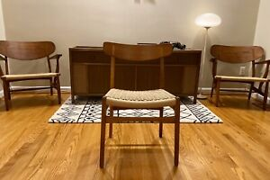 Hans Wegner CH23 Dining Chair Corded Seat Denmark Danish