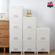 2/3/4 Tier Organizer Unit Narrow Slim Container Storage Cabinet Home Furniture