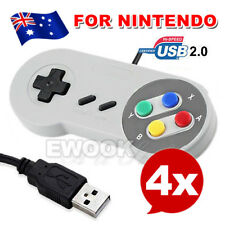 4x Classic USB Joypad Joystick Gaming Controller Gamepad For Nintendo SNES