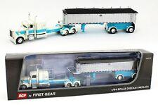 1:64 DCP WHITE & BLUE Peterbilt 389 & MAC Coal End Dump Trailer STS TRANSIT NIB!