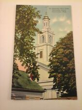Vtg 1940's Postcard SIR CHRISTOPHER WREN TOWER, UNIVERSALIST CHURCH Provincetown