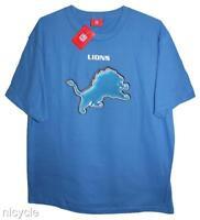Detroit LIONS NFL Blue TEE SHIRT MENS Large L NWT