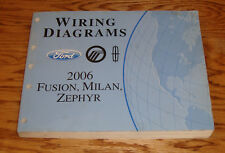 2006 Ford Fusion Mercury Milan Lincoln Zephyr Wiring Diagrams Manual 06