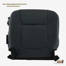 2011 2012 Ford F250 F350 Lariat DRIVER Bottom BLACK Peforated LEATHER Seat Cover