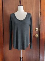 Hollister Co Gray Long Sleeve Baggy Top Women's Size SM