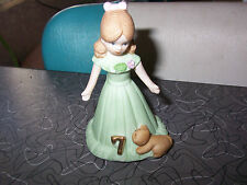 Mouse Enesco Growing Up Girls Blonde Age 7 figure or Cake Topper Nib