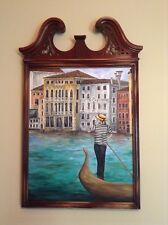 """Grand Canal""  Original Oil Painting Venice Italy Murano water Venezia gondola"