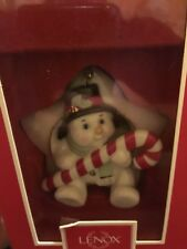 Lenox China Sit On A Star Snowman Christmas Ornament New in Box!