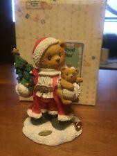 Cherished Teddies Klaus Bearer Of Good Things 176036 Santa Holding Toys Retired