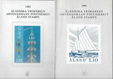 Aland official year pack 1984 + 85 ( the first two issued ) MNH. FACIT cat. SEK