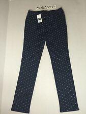 GAP Kids Girls Stretch Polka Dots Navy Blue, White, Pants Jeggings Jeans Size 12