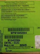 Genuine OEM Whirlpool Gas Range Control Board WPW10453984 New In Box