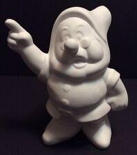"Disney Seven Dwarfs Doc Ceramic Bisque Ready to Paint 9"" Tall Statue"