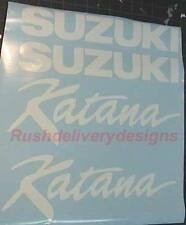 KATANA Suzuki 600, 750, 1100 WHITE FULL Decal Sticker 18pc Set PICK ANY COLOR
