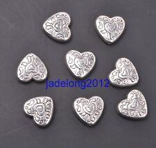 30pcs Tibetan Silver Heart Spacer Beads 11x10mm DIY Jewelry C3092
