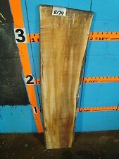 """#8174, spalted Maple Live Edge Slab lumber L 42"""" W 9 1/2"""" T 7/8"""""""