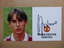 1996-98 Gary Neville Signed Man Utd Club Card (2877)