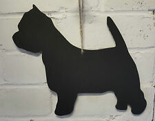 Shabby Chic Scottie Dog 30 cm Chalkboard Shaped Hanging Blackboard Memo Wedding