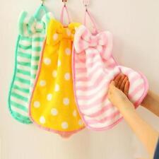 Children Nursery Hand Towel Soft Plush Bow Animal Hanging Wipe Bathing Towel d K