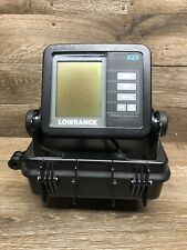LOWRANCE X25 FISH FINDER W/ CASE AND MOUNT  - UNTESTED