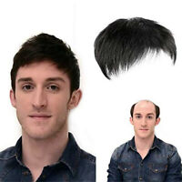 100% Clip in Human Hair Men Topper Toupee Hairpiece Toppee Wig Cover Loss Hair