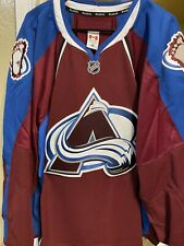 COLORADO AVALANCHE AUTHENTIC TEAM ISSUED REEBOK EDGE 7287 JERSEY SIZE 58