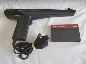 Original SEGA Master System Light Phaser Gun 3050 + Rescue Mission Game