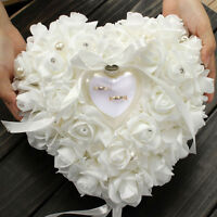 Romantic Rose Wedding Favors Heart Shaped Gift Ring Box Pillow Cushion