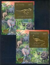 Guyana set 6 Dinosaur sheets overprinted Philakorea 1994 mint nh 2015/09/09#07)