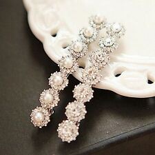 Delicate Diamond Crystal And Pearl Bobby Pin Hair Grip Hairpin Hair Clip