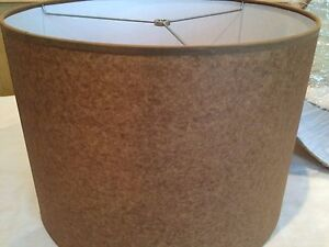 "Contemporary/Mid Century Drum Lamp shade 16"" w"