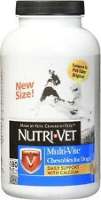 Nutri Vet Dog multi Vite Liver flavor 180 tab count daily vitamins support w cal