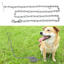 T-style Chain Dog Leads Leash Stake Restraint Chew Proof Cable Tie Out Durable