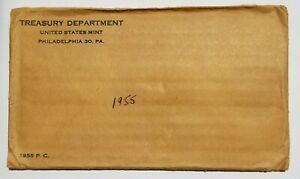 1955 US PROOF SET UNOPENED FLAT PACK UNSEARCHED EXCELLENT BU NICE COINS!