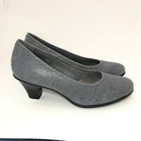 Women's Earth Dress Shoes Bijou Pumps Comfort Heels Gray Suede Leather Size 9 M