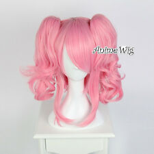 "Anime Code Geass Anya Alstreim Cosplay Dark Pink Hair Curly Wig+12"" Ponytails"