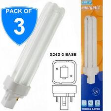 3x Energetic de bajo consumo 26W g24d-3 2p 4200k PLC Bombilla Lámpara Luz