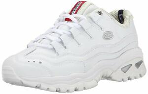 Skechers Womens 2250 Energy Low Top Lace Up Fashion, White/Millennium, Size 8.0