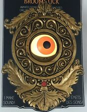 Talking Eyeball Doorbell Animated Halloween Prop Haunted House New Scary Gold