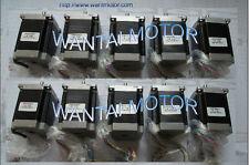 【Free shipping 】10PCS NEMA23 STEPPER MOTOR 270OZ-IN,3A,4Lead