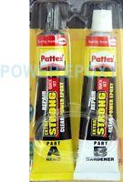 Pattex Power Epoxy Repair A+B Quick Set Transparent metal plastics glass wood