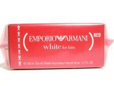 EMPORIO ARMANI WHITE FOR HIM 1.7 OZ MEN PERFUME EDT SPRAY 50ML NIB RED