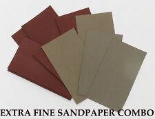 "12 sheets FINE Sandpaper Wet or Dry 3""x 5 1/2"" COMBO 2000/2500/3000/5000 Grit"