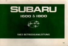 SUBARU 1600 & 1800 manuale di istruzioni 1983 MANUALE ISTRUZIONI BA
