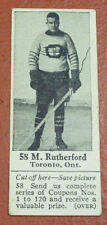 1924-25 Dominion Chocolate Hockey Card M. Rutherford #58