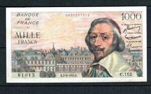 Billet 1000 Francs Richelieu 02/06/55 TTB Fay 42-14