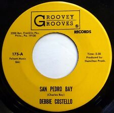 DEBBIE COSTELLO 45 San Pedro Bay / Merely Harry GROOVEY GROOVES jazz VG++ Jr1156