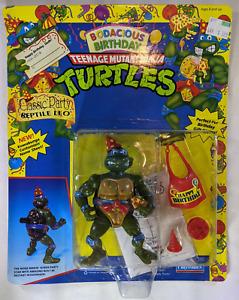 1992 MOC Playmates TMNT Bodacious Birthday Classic Party Reptile Leo