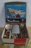 Ancien Robot combiné jeannette moulinex BE moteur hachoir mouline 1966 Vintage.